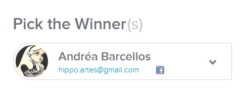 ganhadora do sorteio da #SemanaApaixonada